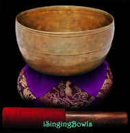 "Antique Tibetan Singing Bowl #9478 : Thado 6 5/8"", ca. 18th Century, G3 & C#5."