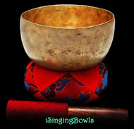 "Antique Tibetan Singing Bowl #9357 : Thado 6 3/4"", ca. 18th Century, G3 & C#5."