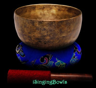 "Antique Tibetan Singing Bowl #9313 : Thado 7"", ca. 17th Century, G3 & C#5."