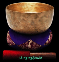 "Antique Tibetan Singing Bowl #9336 : Thado  7 5/8"", circa 17th Century, F#3 & C5."