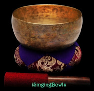 "Antique Tibetan Singing Bowl #9339 : Thado 7"", ca. 18th Century, F#3 & C5."