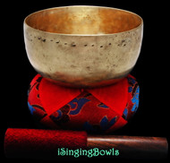 "Antique Tibetan Singing Bowl #9310 : Thado 6 3/8"", ca. 18th Century, F#3 & C5."