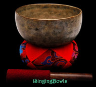 "Antique Tibetan Singing Bowl #9327 : Thado 6 7/8"", ca. 18th Century, A3 & D#5."
