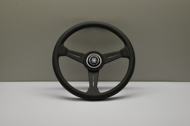 Nardi ND Classic Black Leather Grey Stitch Steering Wheel