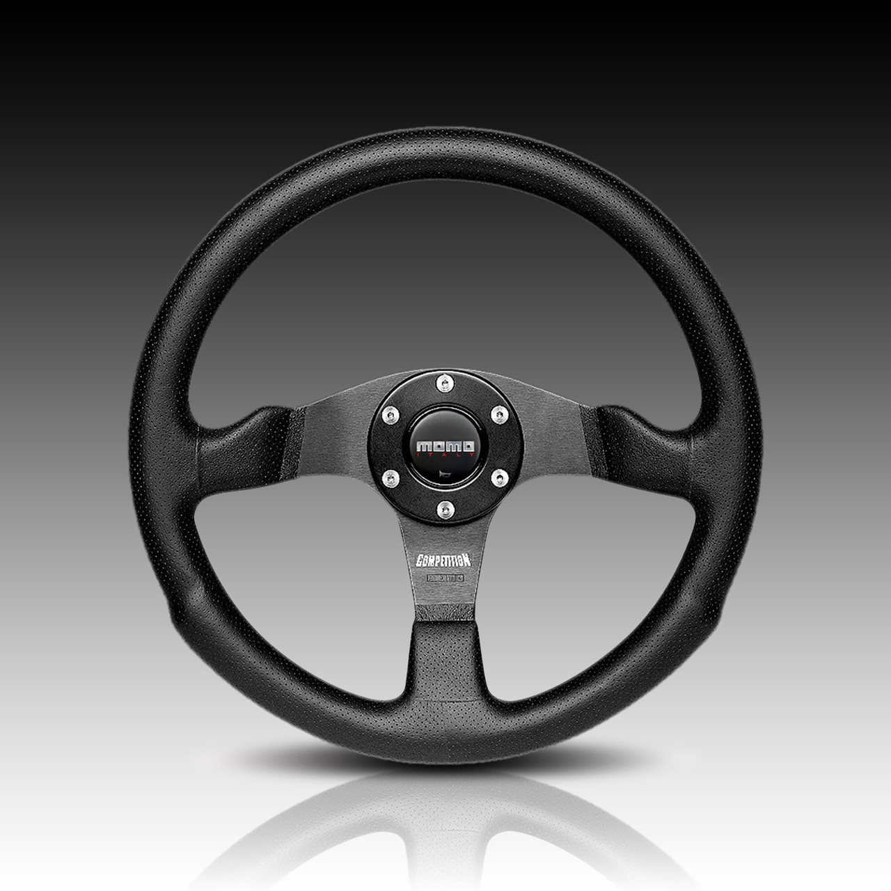 Momo COM35BK0B Competition 350 mm Leather Steering Wheel by MOMO