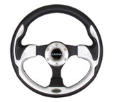 NRG 320mm Sport Steering Wheel w/ Silver Trim (ST-001SL)