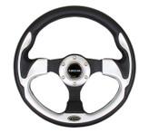 NRG 320mm Sport Steering Wheel w/ Silver Trim (ST-001SL)
