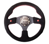 NRG 320mm Sport Suede Steering Wheel w/ Dual Button (ST-007S)