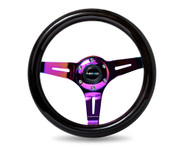 ST-310BK-MC Classic Black Wood Grain Wheel, 310mm, 3 spoke center in Neochrome