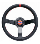 Sparco CHAMPION 350mm Perforated Leather / Red Stitching- 015TCHMP