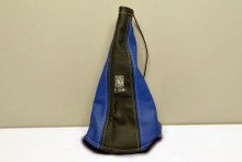 Nardi Leather Handbrake Gaiter Black / Blue (3900.03.0000)