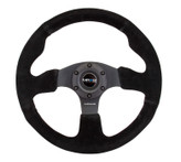 NRG 320mm Sport Suede All Black Steering Wheel Race