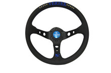 Vertex 10 STAR 330mm Black Leather Blue Stitch Steering Wheel