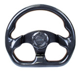 NRG 320mm Flat Bottom Shiny Full Carbon Fiber Steering Wheel