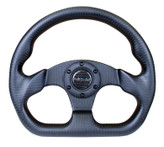 NRG 320mm Flat Bottom Matte Full Carbon Fiber Steering Wheel