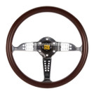 MOMO SUPER GRAND PRIX 350MM MAHOGANY WOOD WALNUT MATTE STEERING WHEEL