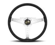 MOMO Prototipo Heritage California 360mm Black Leather Polished Spoke  - CAL36BK2S