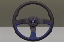 Nardi Challenge Black Blue 350mm Leather