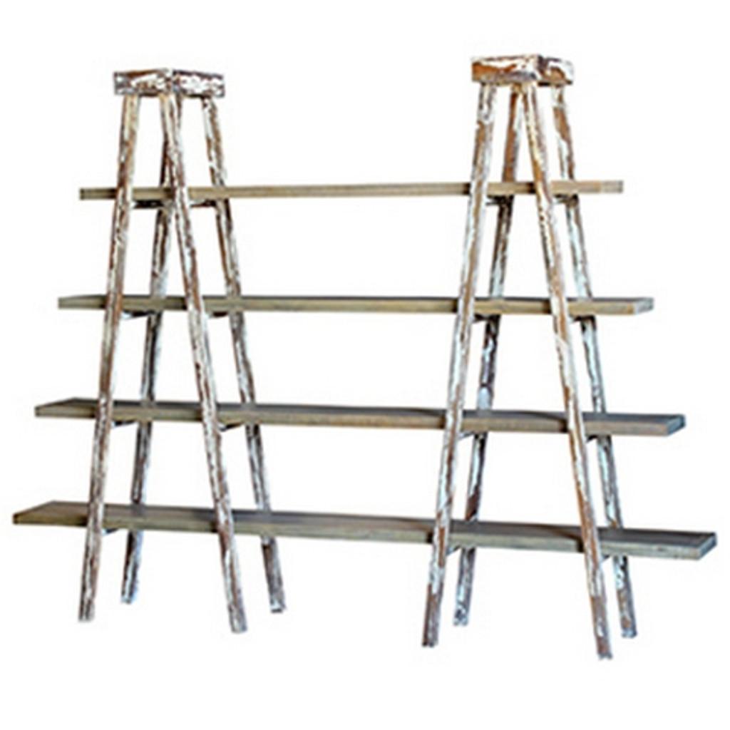 Taylor Double Ladder Shelf - Size: 180H x 232W x 40D (cm)