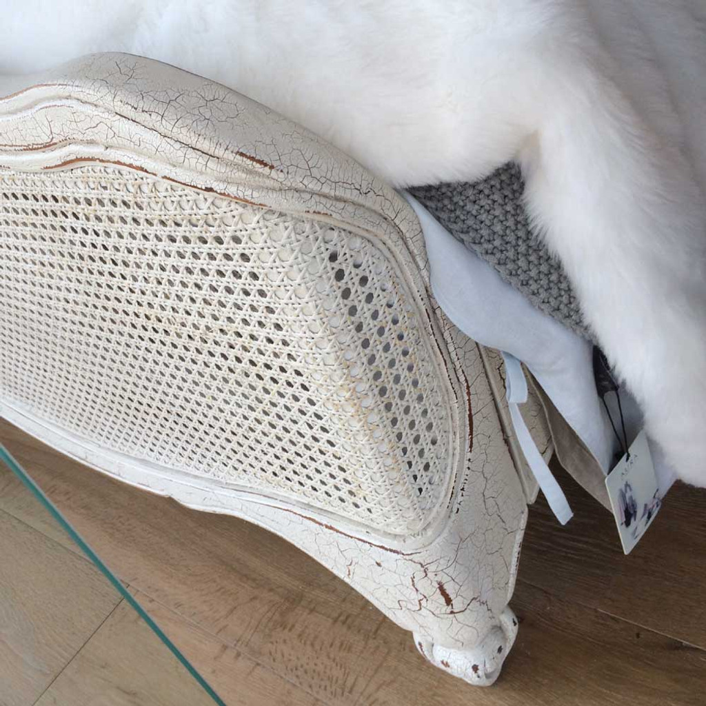 Covington Rattan Queen Bed Foot Detail