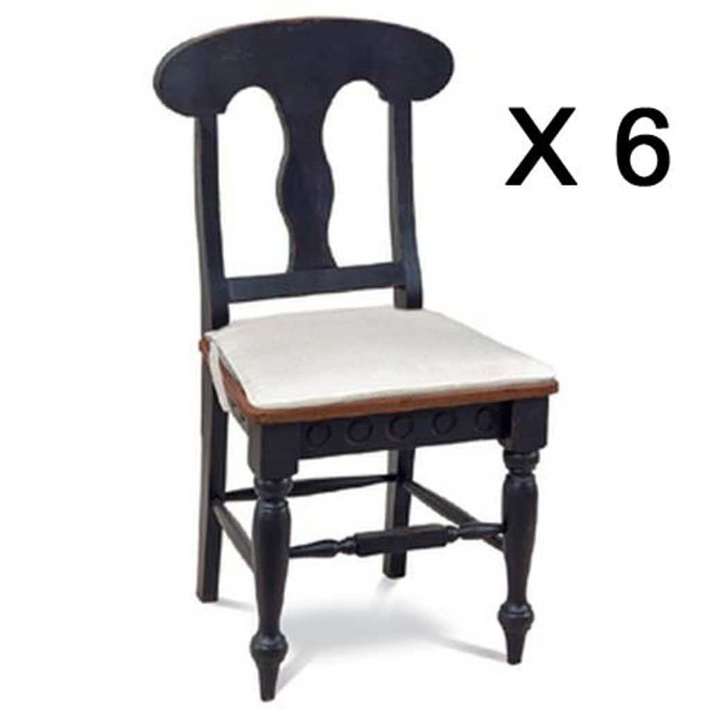 Richmond Dining Chair - Black /AHM (6 pack)