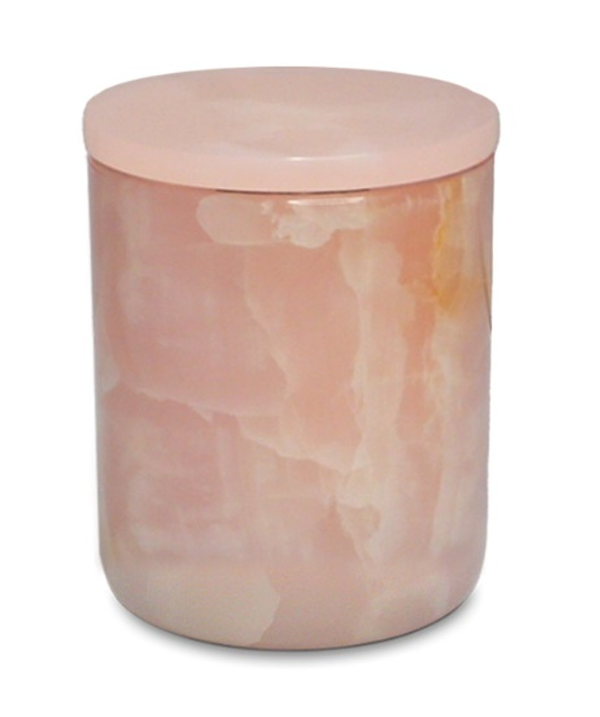 The Luxuriate Pink Onyx Candle Vessel