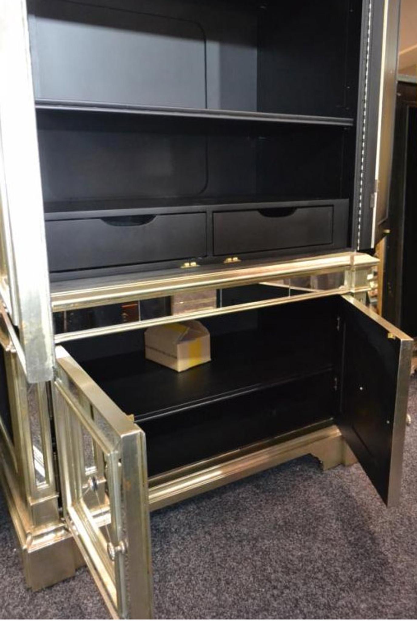 Antique Mirrored Armoire Tv Cabinet Mirrored Antique Furniture