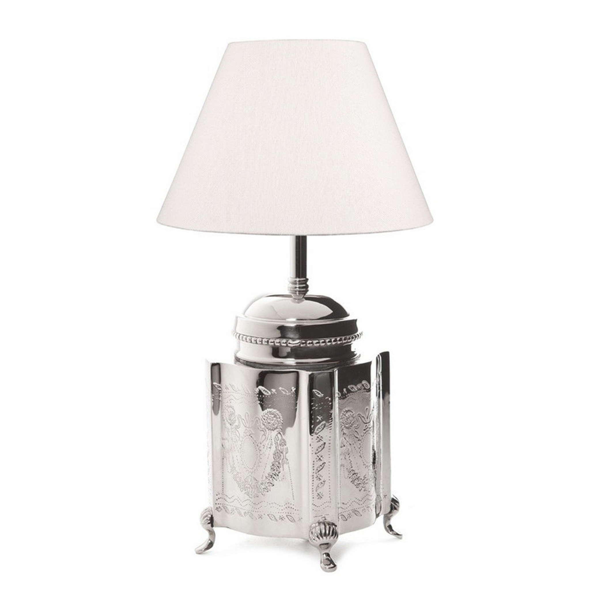 Kensington tea caddy table lamp nickel lighting emac for Lawton architectural products