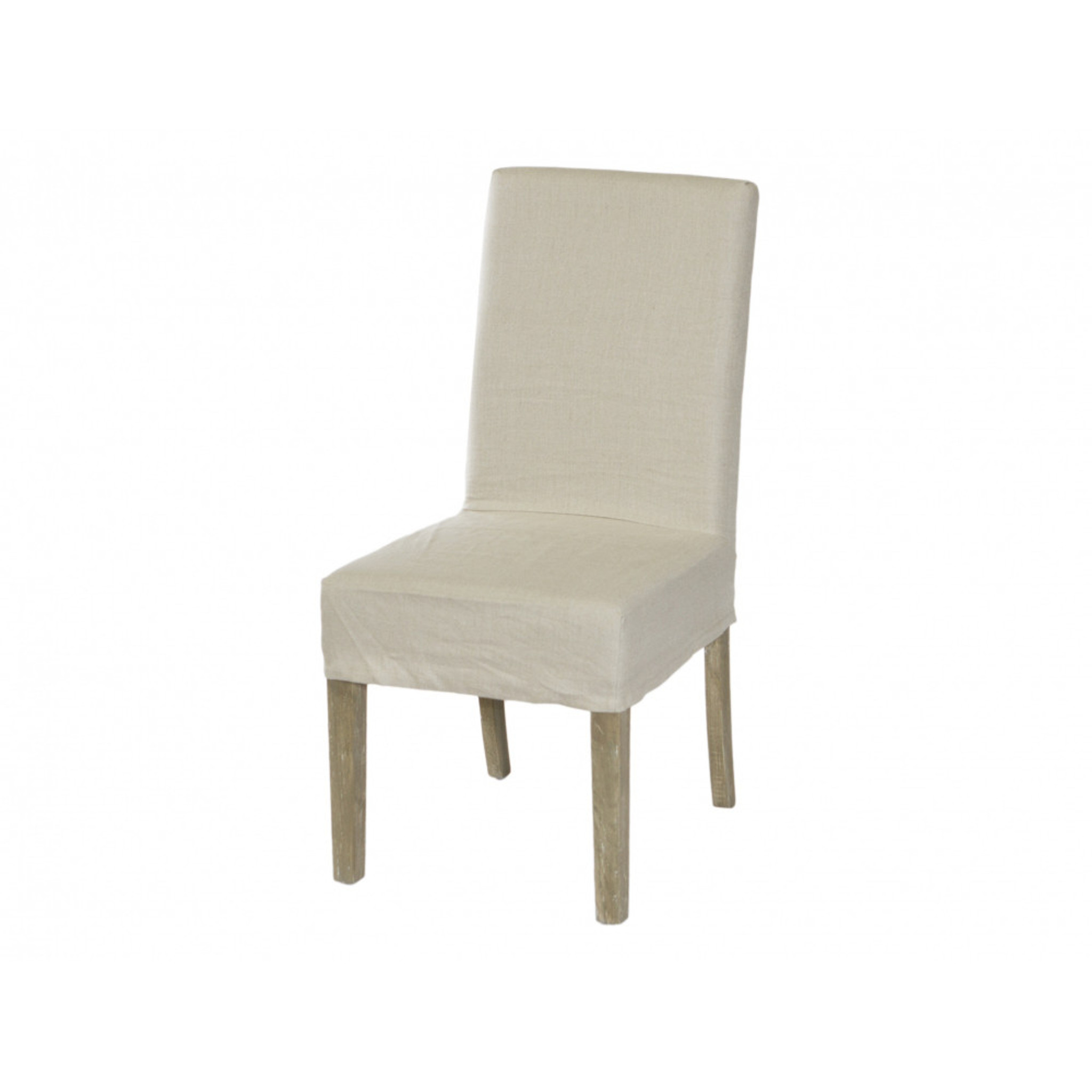 Dining Chair Cover Short Natural Linen Maison Living