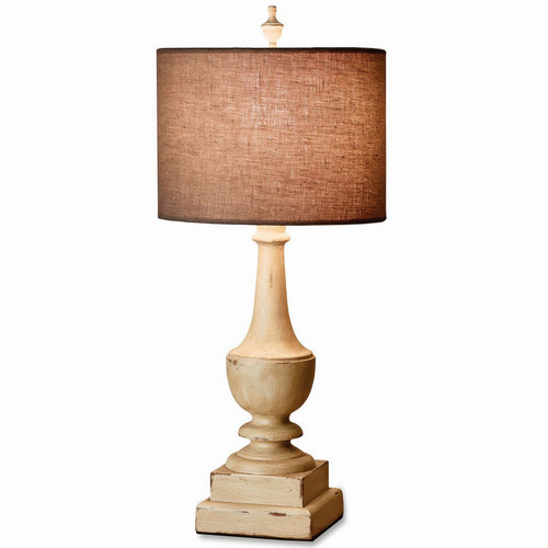 Grecian Lamp w/ Base and Shade - Size: 71H x 30W x 30D (cm)
