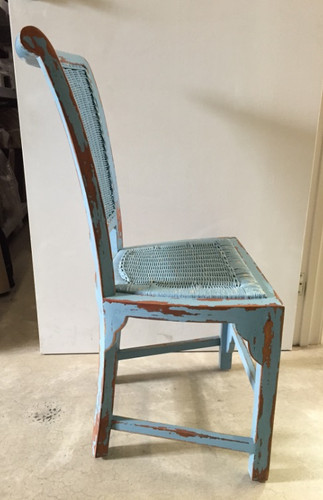 Tatum Dining Chair - Federal Blue Heavy Distressed