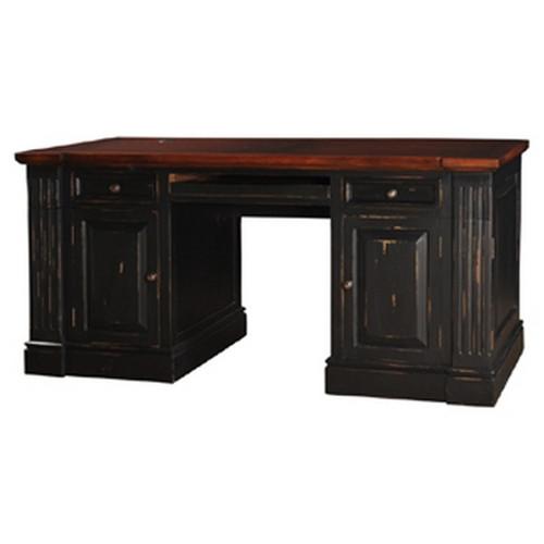Roosevelt Computer Desk - Black Heavy Distressed /AHM