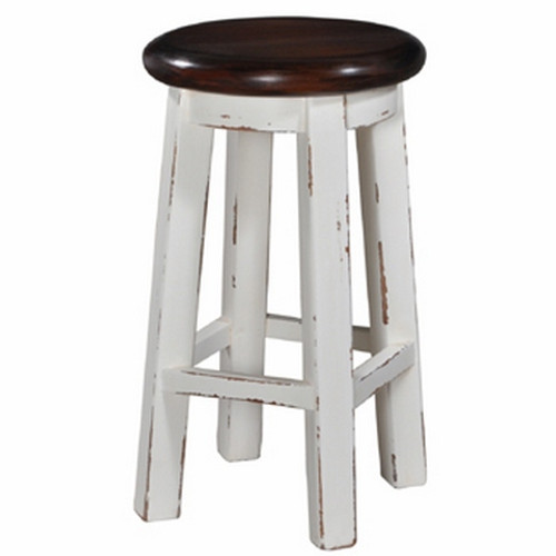 Classic Counter Stool - White Light Distressed /AHM