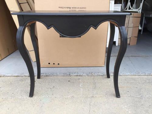 Classique Console Table Short - Black Light Distressed