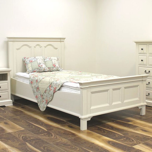 Florence King Single Bed - A/Cream