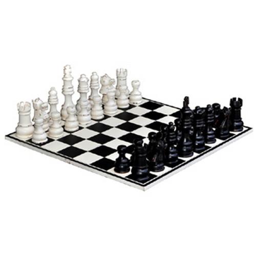Gentlemens Club Chess Set - White Heavy Distressed /BHD