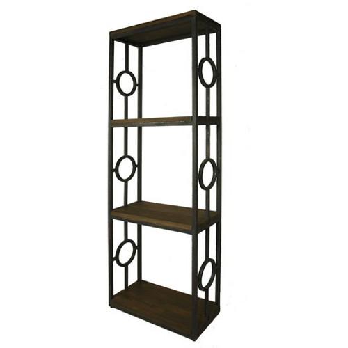 Iron Bookcase one Column - Size: 200H x 68W x 32D (cm)