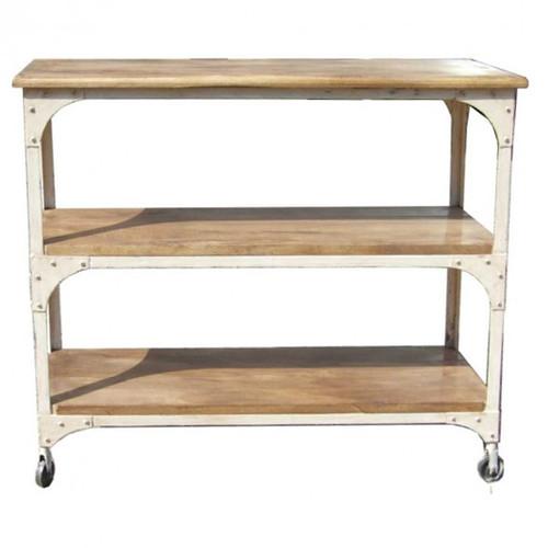 Industrial Bookcase 2 Shelf - White