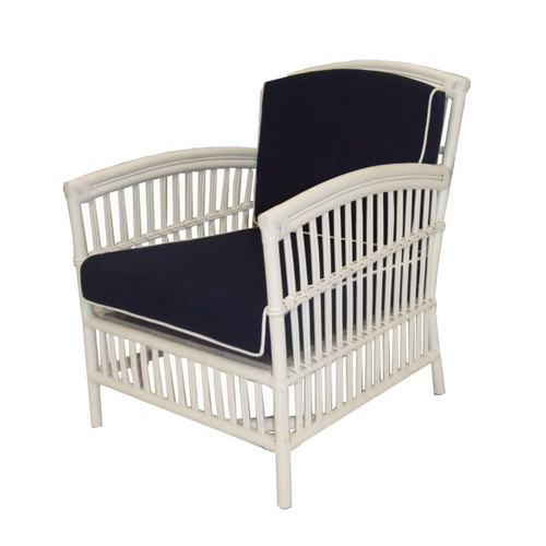 Miami Armchair White/Blue