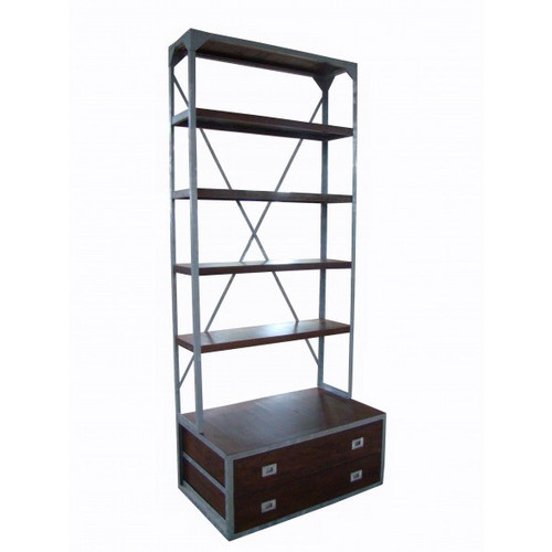 Dockside Bookcase w/2 Drawers