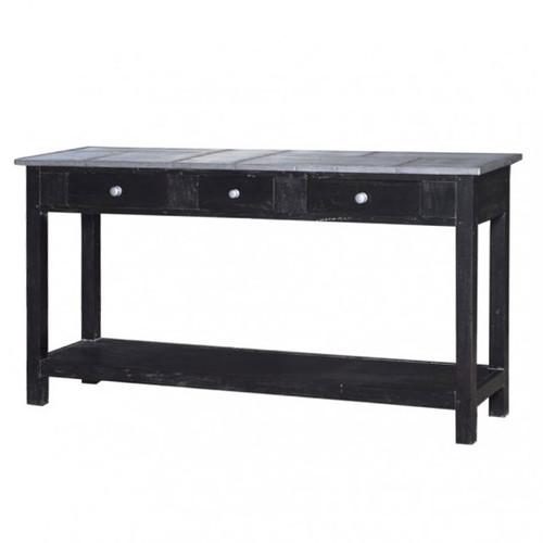 Tinsmith Sofa Table - Rub Black /TAN