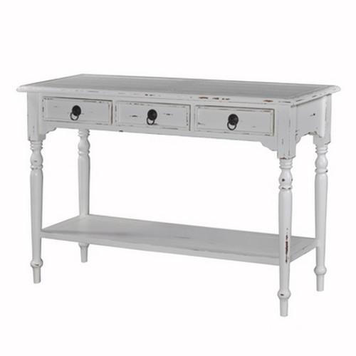 Tucker 3 Drawer Sofa Table w/Shelf - Size: 76H x 116W x 40D (cm)