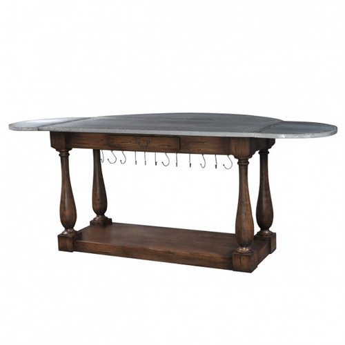 Bailey Breakfast Island - Antique Oak /TAN