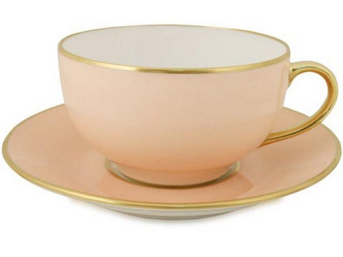 Limoges Legle Breakfast Cup & Saucer - Rose Petal