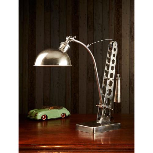 Bolton Desk Lamp - Antique Silver