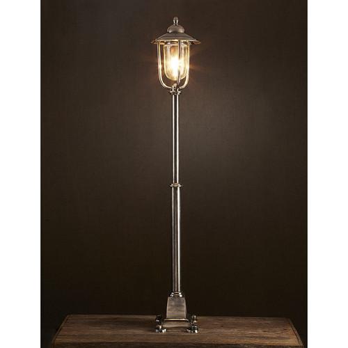 Hampstead floor lamp antique silver lighting emac for Silver floor lamp australia