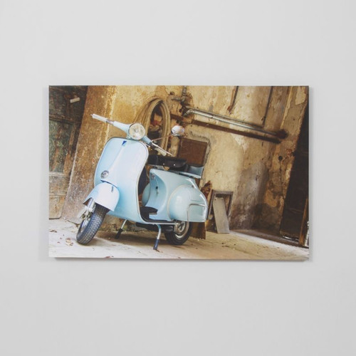 Canvas Print: Blue Vespa