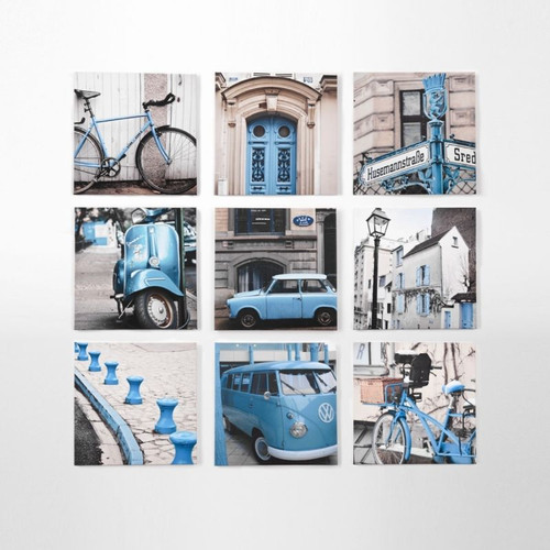 Canvas Print: City Tour Blue