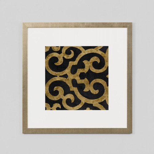 Framed Print: Lattice Ebony
