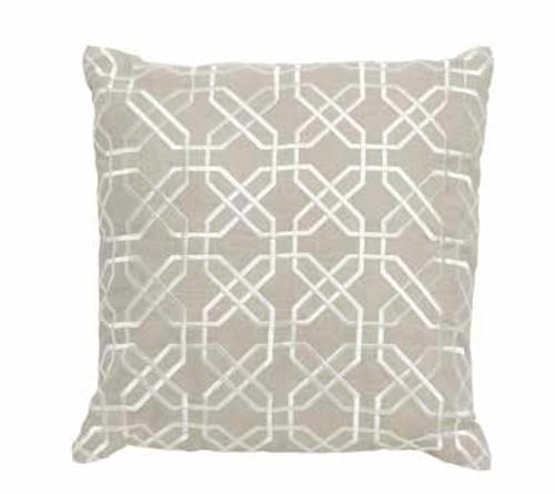 Imogen Hexagon Stitch Linen Cushion Large